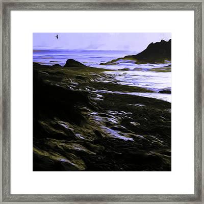 Rocky Beach Framed Print by Shelley Bain
