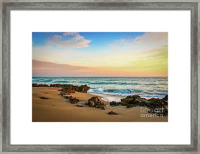 Rocky Beach Framed Print