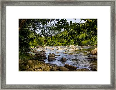 Rocky Broad River Framed Print