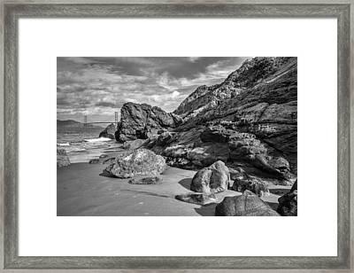 Rocky China Beach San Francisco Framed Print