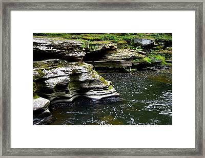 Rocky Cliffs Framed Print by Billie Steer