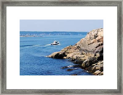 Rocky Coast Downeast Framed Print by Steven Scott