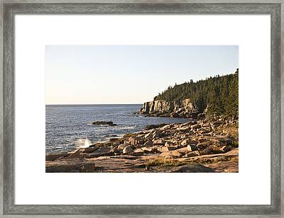 Rocky Coast Of Acadia Framed Print by Frank Russell