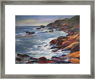 Rocky Coast Framed Print by Pati Maguire