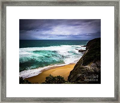 Framed Print featuring the photograph Rocky Coast by Perry Webster
