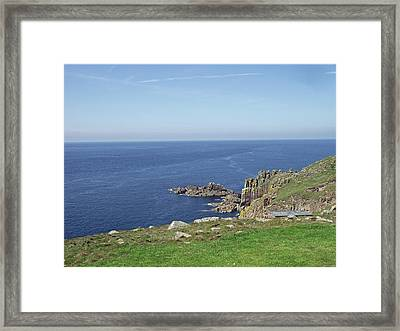 Rocky Coastline At Land's End Framed Print