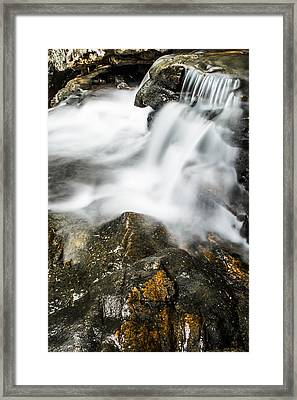 Rocky Collision Framed Print by Shelby  Young