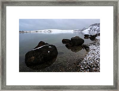 Rocky Cove Port Jefferson New York Framed Print