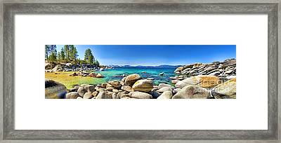 Rocky Cove Sand Harbor Framed Print by Jason Abando