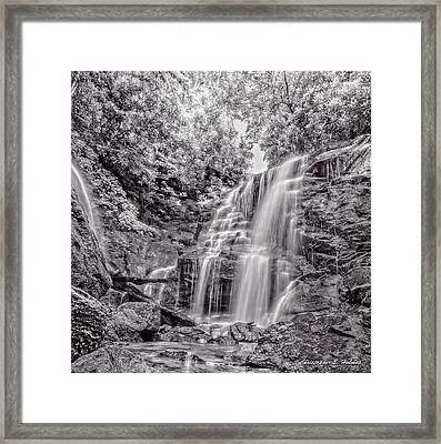 Rocky Falls - Bw Framed Print by Christopher Holmes