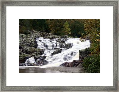 Rocky Falls Framed Print by Marty Koch
