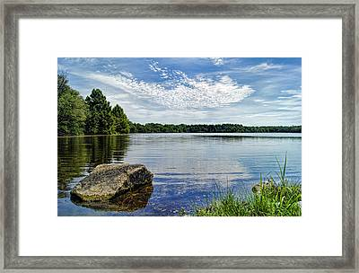 Rocky Fork Lake Framed Print by Cricket Hackmann
