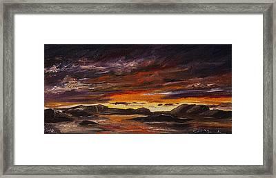 Rocky Landscape Framed Print