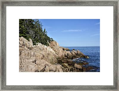 Rocky Maine Coast Framed Print by Brendan Reals