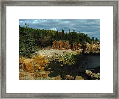 Rocky Maine Coast Framed Print by Juergen Roth