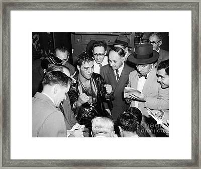 Rocky Marciano (1924-1969) Framed Print by Granger