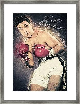 Rocky Marciano Framed Print by Taylan Apukovska