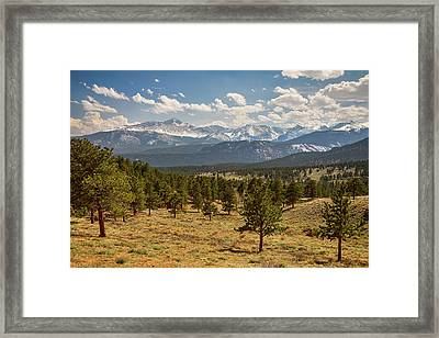 Framed Print featuring the photograph Rocky Mountain Afternoon High by James BO Insogna