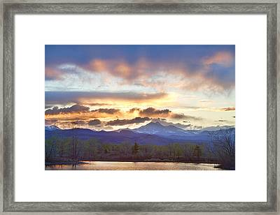 Rocky Mountain April Springtime Sunset  Framed Print by James BO  Insogna