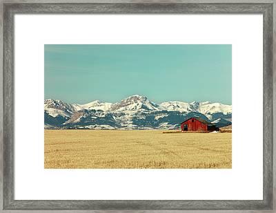 Rocky Mountain Barn Framed Print by Todd Klassy