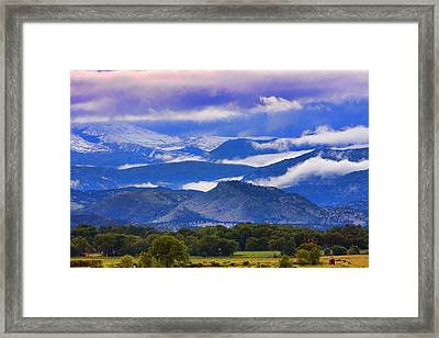 Rocky Mountain Cloud Layers Framed Print by James BO  Insogna