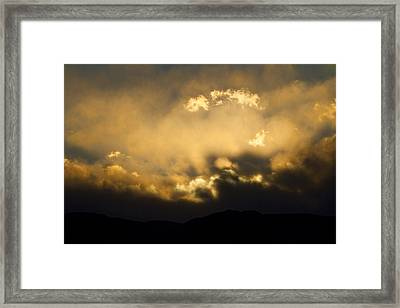 Rocky Mountain Continental Divide Sunset Framed Print by James BO  Insogna