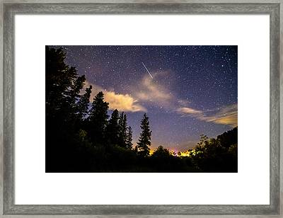 Rocky Mountain Falling Star Framed Print by James BO Insogna