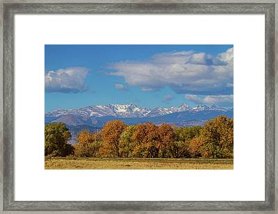 Rocky Mountain Front Range Colorful View Framed Print
