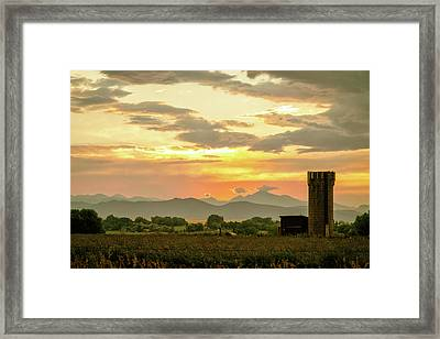 Framed Print featuring the photograph Rocky Mountain Front Range Country Landscape by James BO Insogna