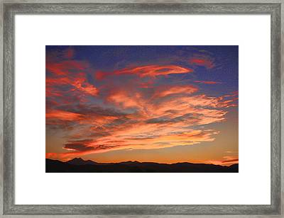 Rocky Mountain Front Range Sunset Framed Print by James BO  Insogna