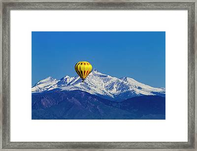 Rocky Mountain Hot Air Balloon Framed Print by Teri Virbickis