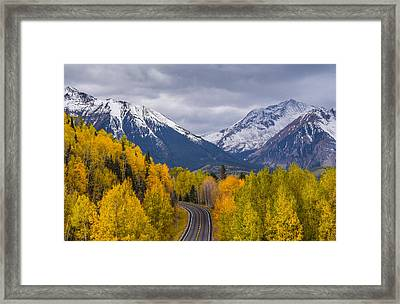 Rocky Mountain Hwy Framed Print