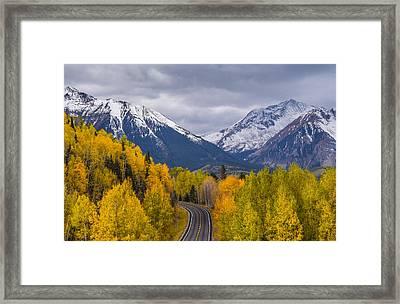 Rocky Mountain Hwy Framed Print