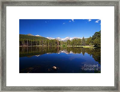 Rocky Mountain Lake In A Colorado National Park Framed Print by ELITE IMAGE photography By Chad McDermott