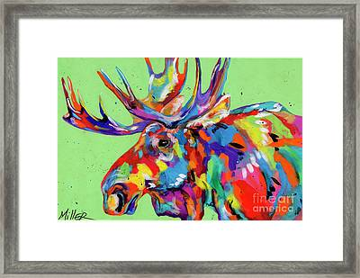 Rocky Mountain Moose Framed Print by Tracy Miller