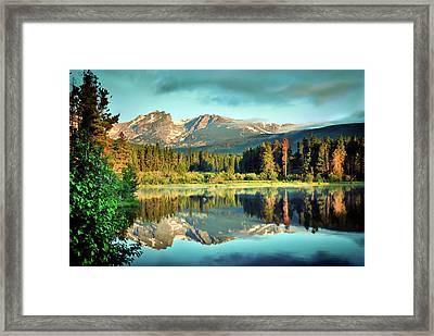 Rocky Mountain Morning - Estes Park Colorado Framed Print
