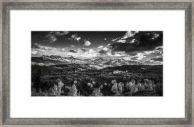 Framed Print featuring the photograph Rocky Mountain Panorama by Andrew Soundarajan