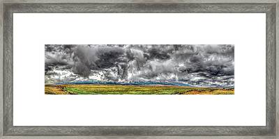 Rocky Mountain Panorama Hdr Framed Print