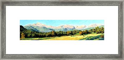 Rocky Mountain Panoramic Framed Print by Mary Giacomini