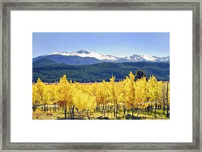 Rocky Mountain Park Colorado Framed Print by James Steele