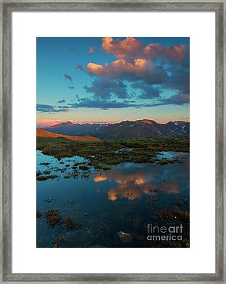 Rocky Mountain Reflections Framed Print by Mike Dawson