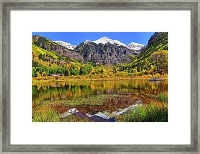 Rocky Mountain Reflections - Telluride - Colorado Framed Print