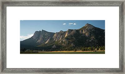 Rocky Mountain Ridge Estes Park Co Framed Print by Steve Gadomski
