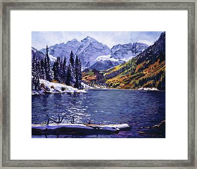 Rocky Mountain Serenity Framed Print by David Lloyd Glover