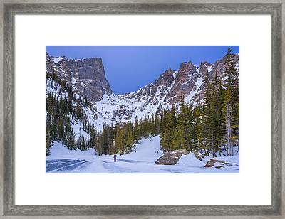 Rocky Mountain Snowshoer Framed Print by Darren White