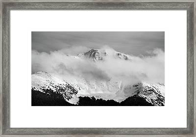 Rocky Mountain Snowy Peak Framed Print
