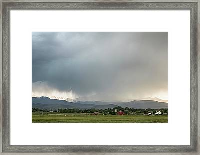 Rocky Mountain Storming Framed Print