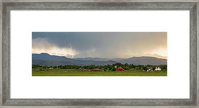 Framed Print featuring the photograph Rocky Mountain Storming Panorama by James BO Insogna