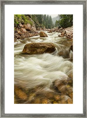 Rocky Mountain Streaming Framed Print by James BO  Insogna