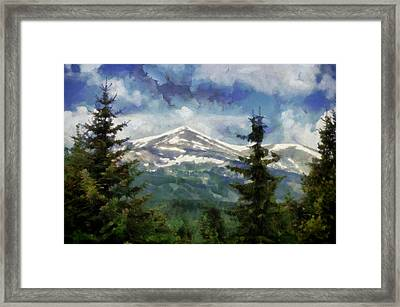 Rocky  Mountain Summer  Framed Print